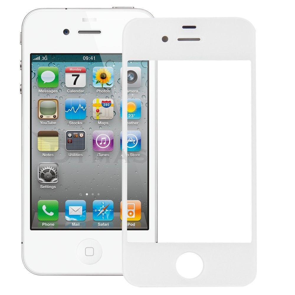 vitre pour apple iphone 4 et 4s couleur noir et blanc ebay. Black Bedroom Furniture Sets. Home Design Ideas
