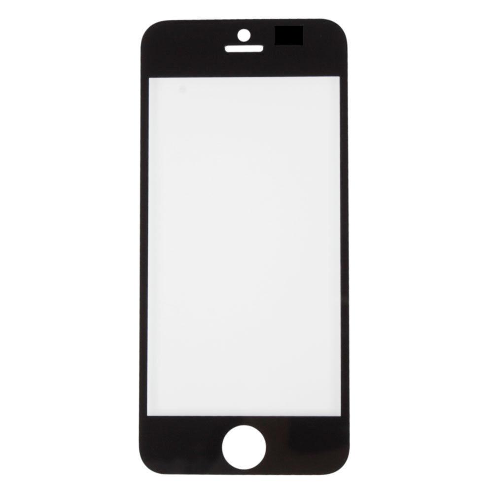 vitre pour apple iphone 5 et 5s couleur noir et blanc ebay. Black Bedroom Furniture Sets. Home Design Ideas