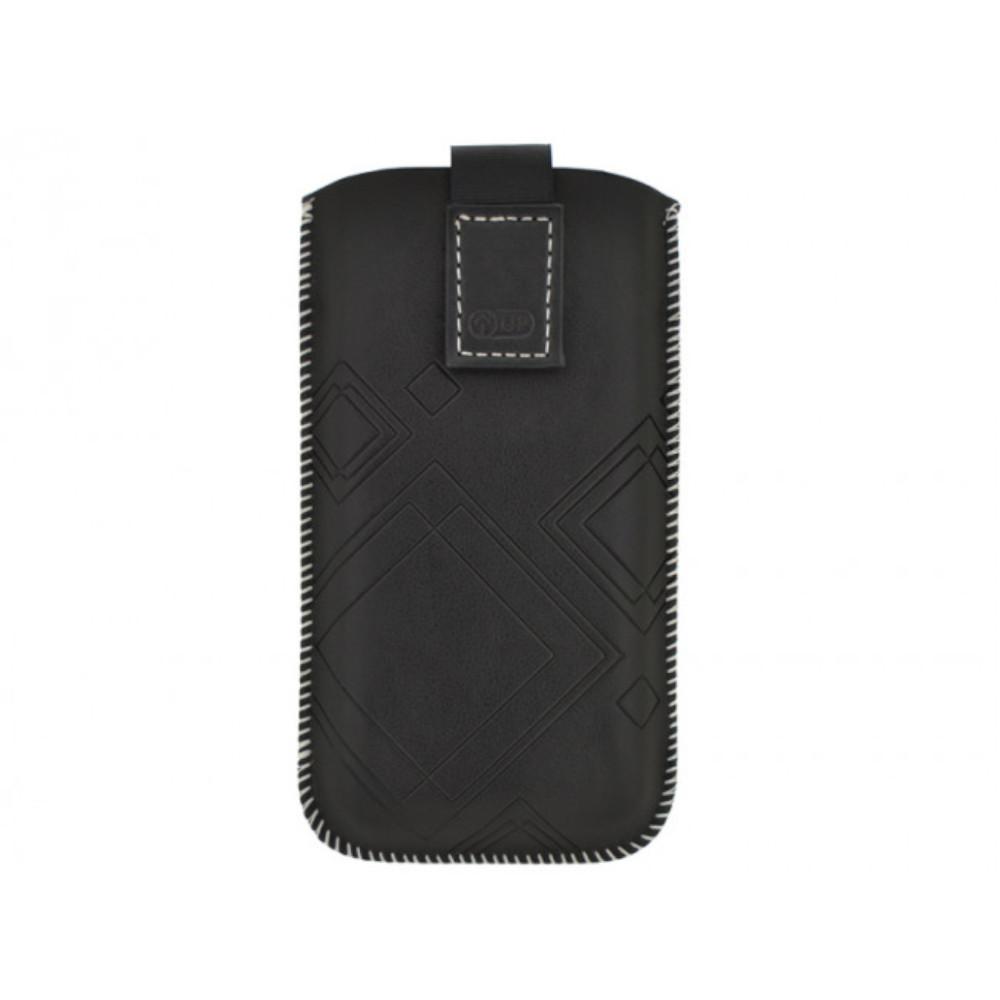 Housse universelle noir systeme pull out passe ceinture for Housse blackberry q10